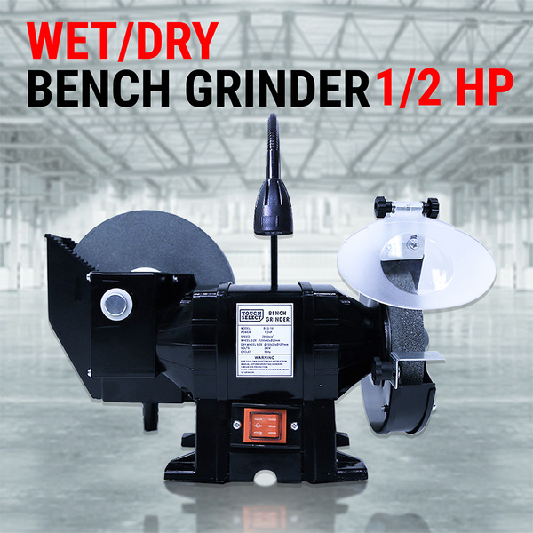 "8"" 6"" Wet & Dry Bench Grinder 1/2HP 375W 200mm Knife Sharpener Power Tool Industrial Grinding"