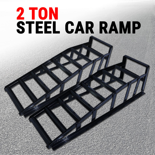 Car Ramp 2Pcs, Lifts Loading 2 Ton Vehicle Ramps Pair Heavy Duty Steel 2000 kg