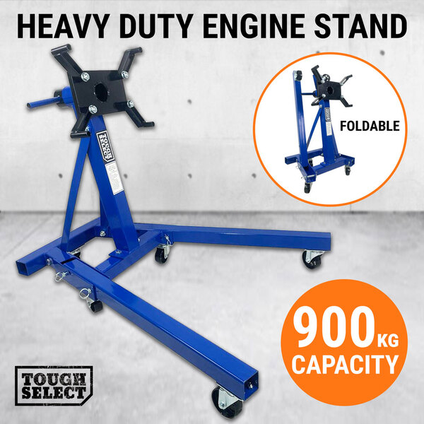 900kg Folding Engine Stand Heavy Duty Industrial Workshop Cars Auto Crane Hoist