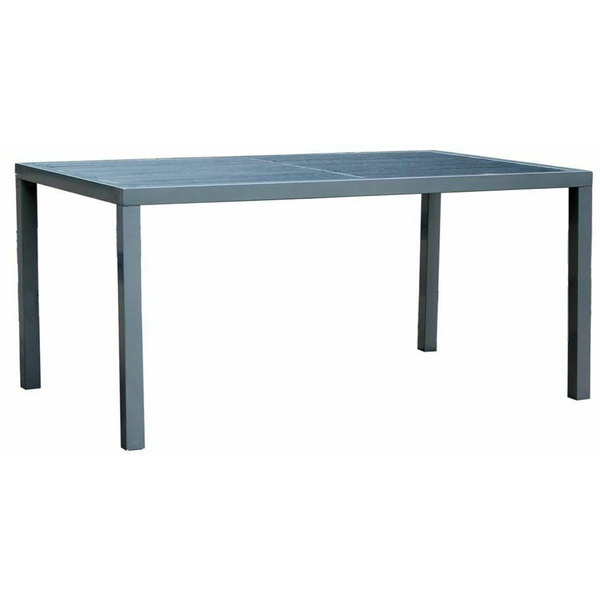 Dining Table Aluminium Frame w/ Wooden Slat 2.4M, Garden Outdoor Furniture