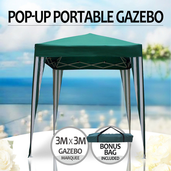 Gazebo Portable 3x3m Pop Up Water Resistant Steel Frame Marquee Sunshade Foldable