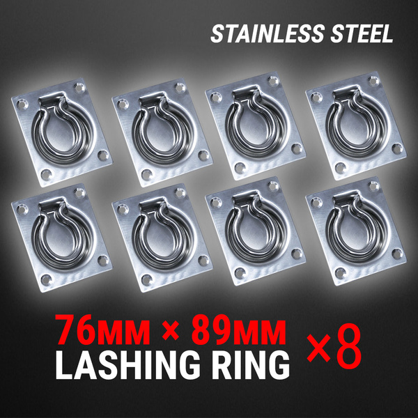 8 Pcs Lashing Ring Stainless Steel Recessed Tie Down Point Anchor Trailer UTE