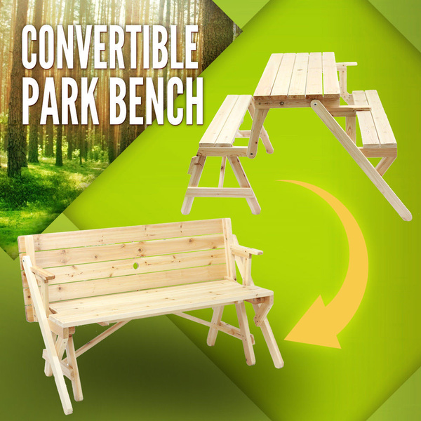 Picnic Table Park Bench Setting Outdoor Garden Bench Set Timber Chair
