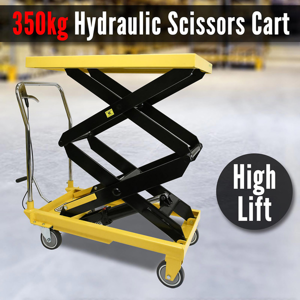 350KG NEW Manual Scissor Lift Table HIGH LIFT Heavy Duty Hydraulic Cart