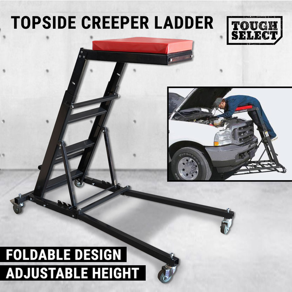 Foldable Topside Creeper Seat Workstation Ladder Mechanic Engine Car Shop Truck